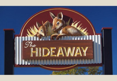 The Hideaway B&B Sign