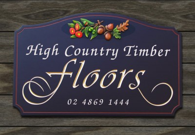 High Country Timber Floors Business Sign