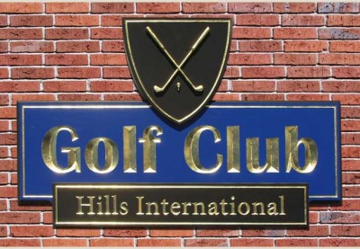 Hills International Golf Club Sign