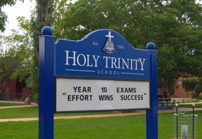 Holy Trinity School Signs