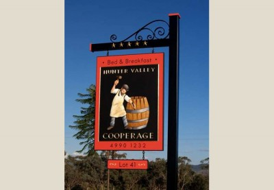 Hunter Valley Cooperage B&B Sign