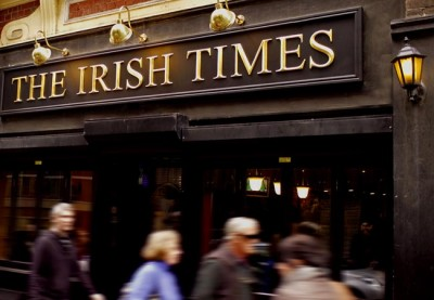 The Irish Times Pub Sign