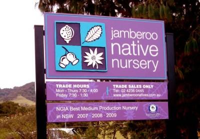 Jamberoo Native Nursery Sign