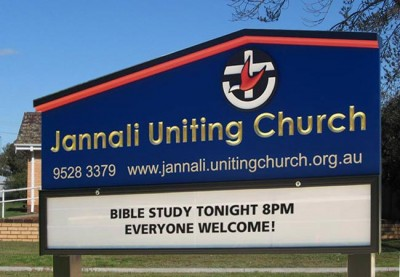 Jannali Uniting Church Sign