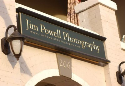 Jim Powell Photography Business Sign