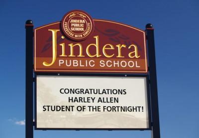 Jindera Public School Sign