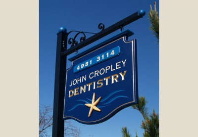 John Cropley Dentist Sign