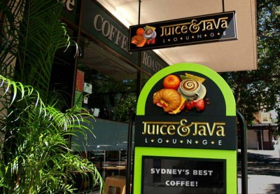 Juice & Java Cafe Sign System