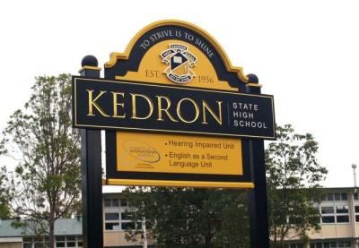 Kedron State High School Sign
