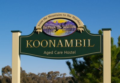 Koonambil Aged Care Sign
