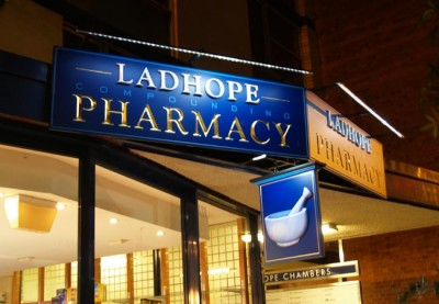 Ladhope Pharmacy Healthcare Sign