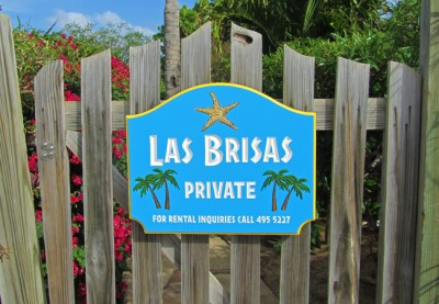 Las Brisas House Sign