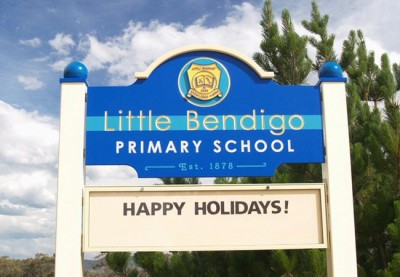 Little Bendigo School Sign