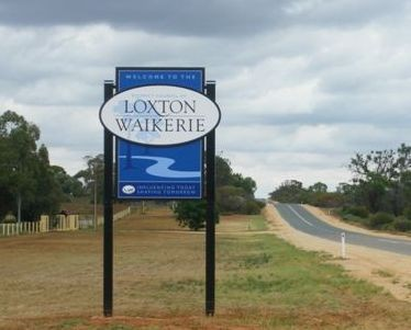 Loxton Waikerie Town Entry Sign