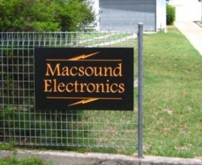 Macsound Electronics sign