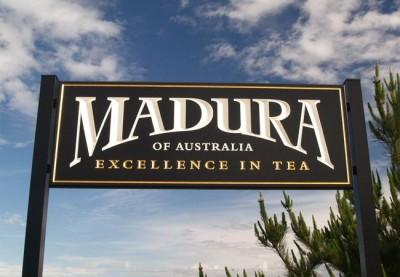Madura Tea Business Sign