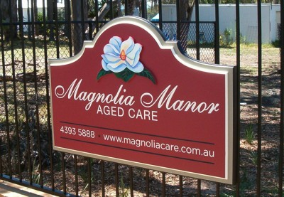 Magnolia Manor Aged Care Sign