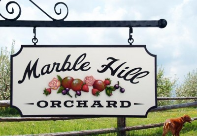 Marble Hill Orchard Rural Business Sign