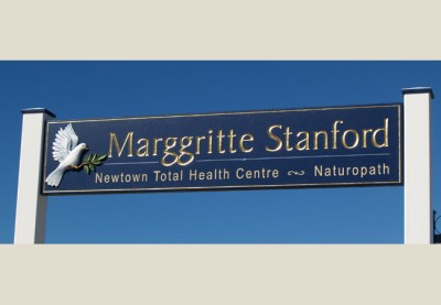 Marggritte Stanford Naturopath Health Care Sign
