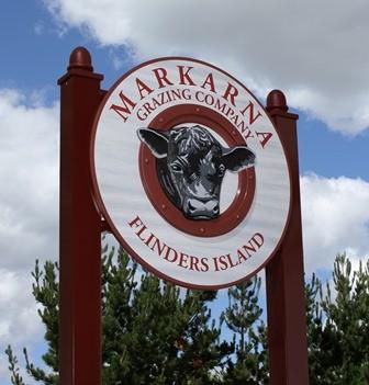 Markarna Grazing Company signs