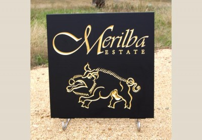 Merilba Estate Winery Sign