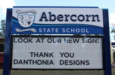 Abercorn-state-school-changeable-sign