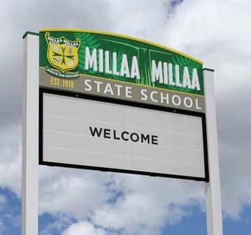 Millaa_Millaa_State_School_message_board_sign