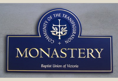 Community of the Transfiguration Monastery Sign