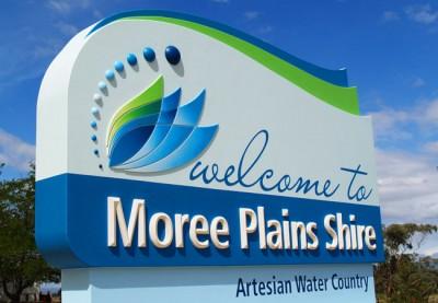moree plains shire entry monument