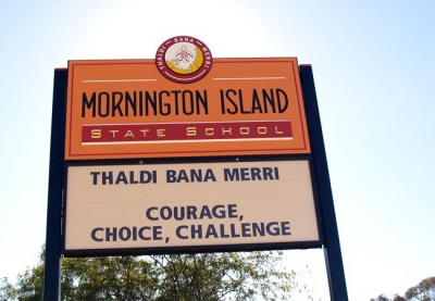 Mornington Island State School Sign