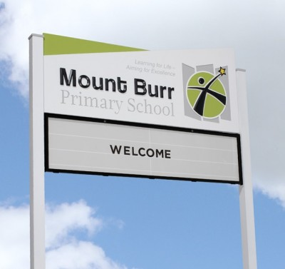 Mount_Burr_Primary_School_changeable_sign