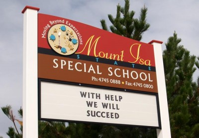 Mount Isa Special School changeable sign