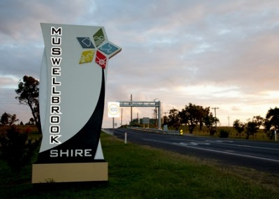 Muswellbrook Shire entry signs