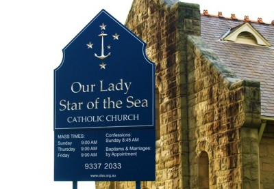 Our Lady Star of the Sea Church Sign