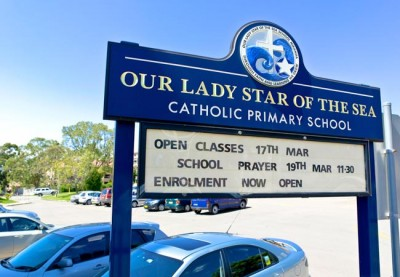 Our Lady Star of the Sea School Sign