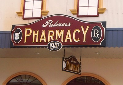 Palmers Pharmacy Healthcare Sign System