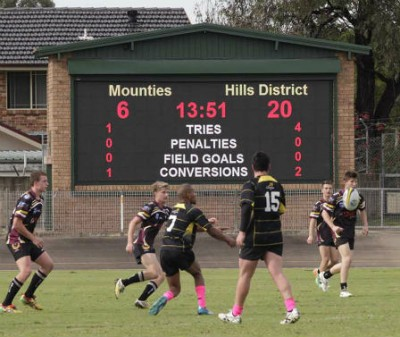 Merrylands Sports Oval Scoreboard