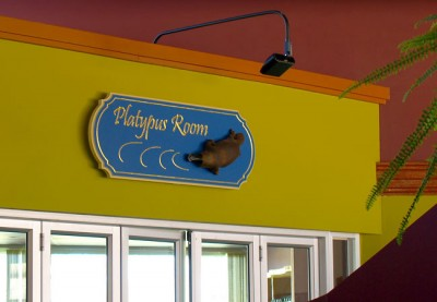 Platypus_Room_Club_wall_mounted_entry_sign