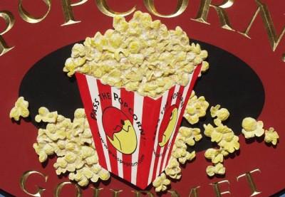 Popcorn Gourmet Business Sign