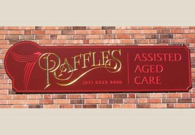 Raffles Assisted Aged care Sign