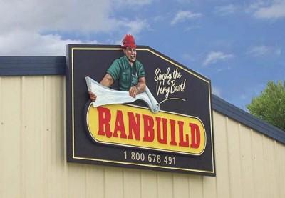 Ranbuild Gable Business Sign