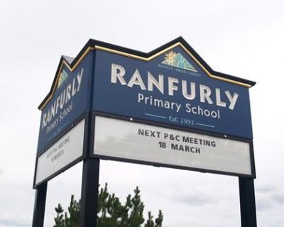 Ranfurley School Message Board Sign