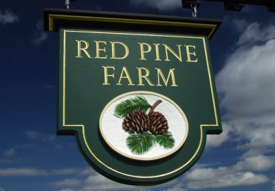 Red Pine Farm Property Sign