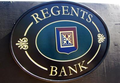Regents Bank Business Sign