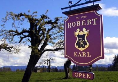 Robert Karl Winery Sign
