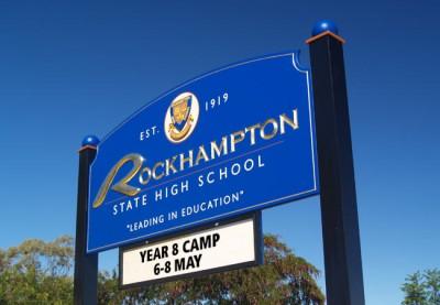 Rockhampton State High School Sign