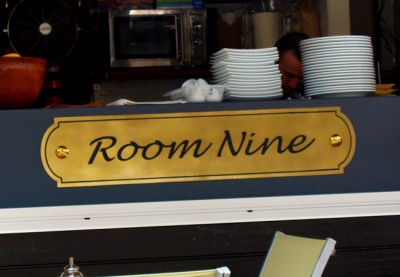 Room Nine Cafe Sign