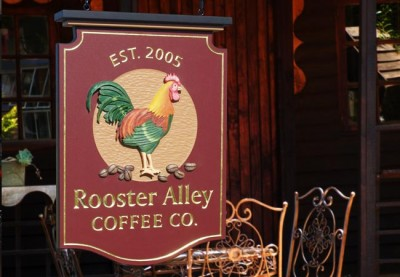 Rooster Alley Coffee Co. Cafe Sign