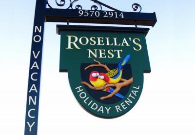 Rosella's Nest B&B Sign