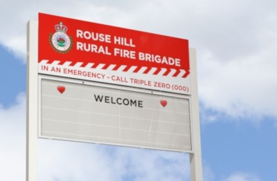 message-board-sign-rouse-hill-rfs